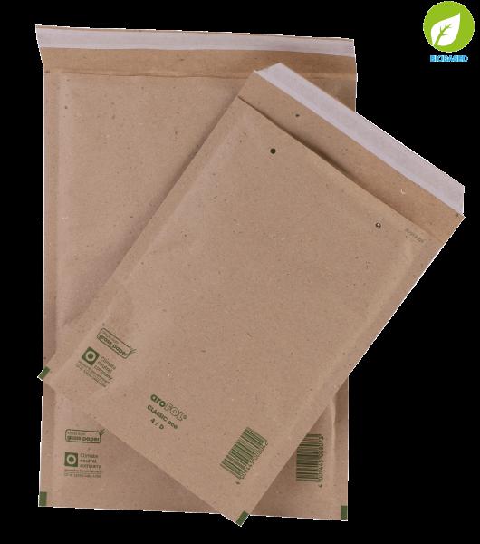 Luftpolsterversandtasche aus Graspapier