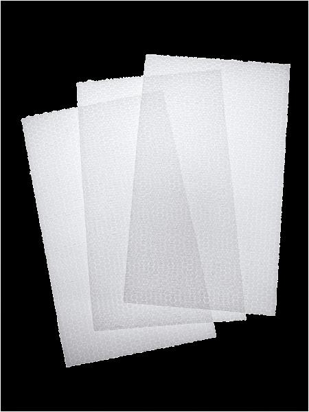 Zuschnitt aus Luftpolsterfolie zweilagig