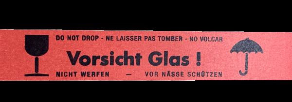"""Papierklebeband """"Vorsicht Glas"""""""