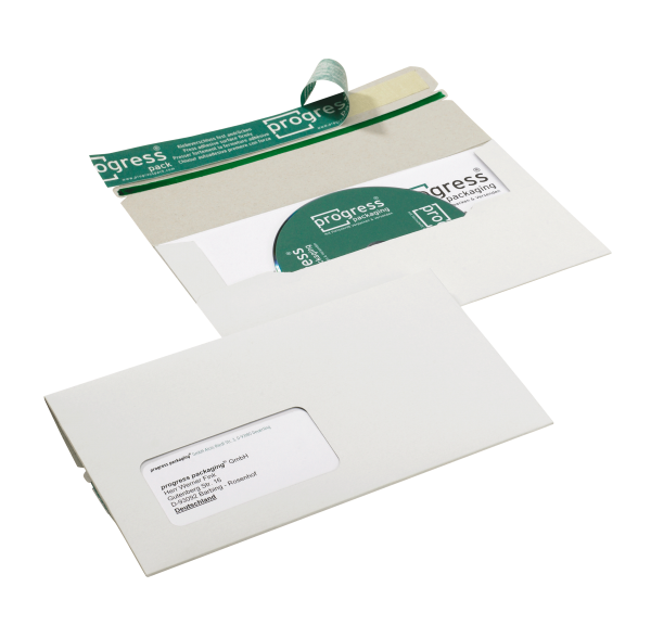 CD-Mailer DIN lang, stabile Vollpappe, weiß