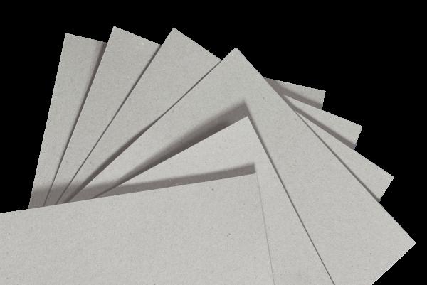 Zuschnitt aus Graukarton