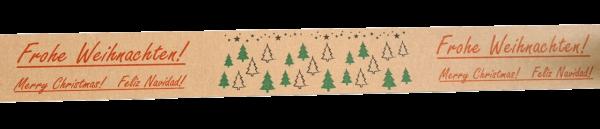 Papierselbstklebeband mit Weihnachtsmotiv