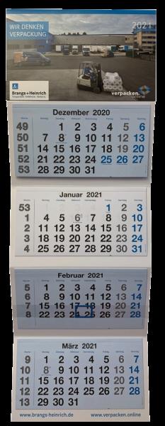 Prämie - 4-teiliger Wandkalender 2021