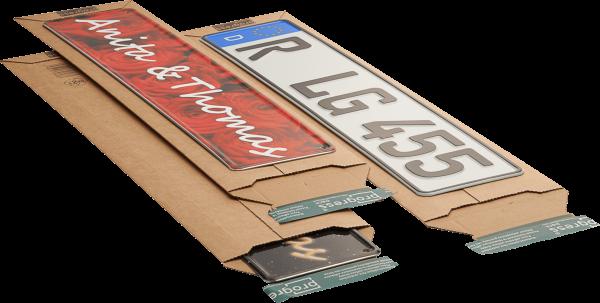 Versandtasche für Kfz-Kennzeichen