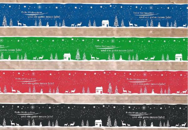 PVC-Klebeband mit Weihnachtsmotiv
